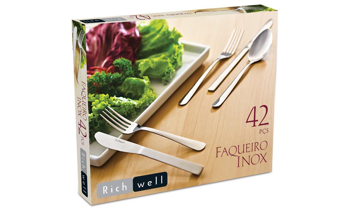 Faqueiro Inox 42 peças Richwell