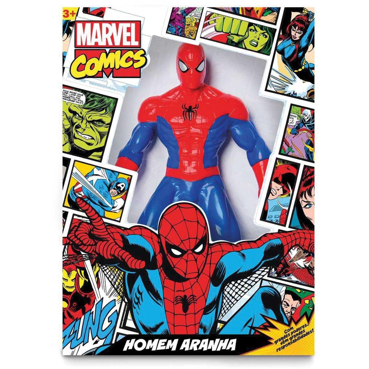 Boneco Homem Aranha Comics 50cm - Mimo