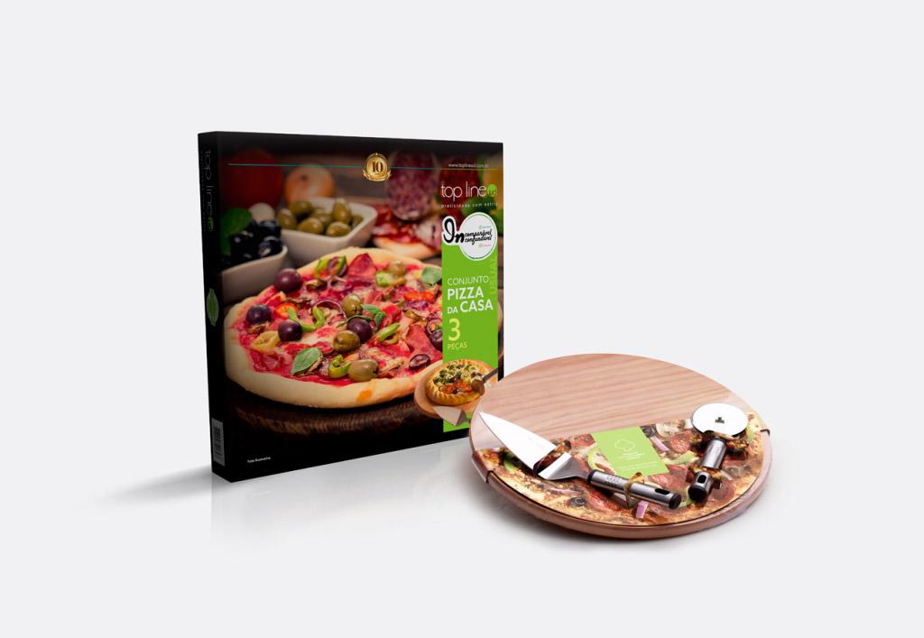 Conjunto Pizza da Casa 03 Peças Top Line