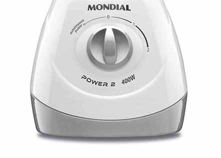 Liquidificador Power 2 400W Branco e Cinza Mondial 127V
