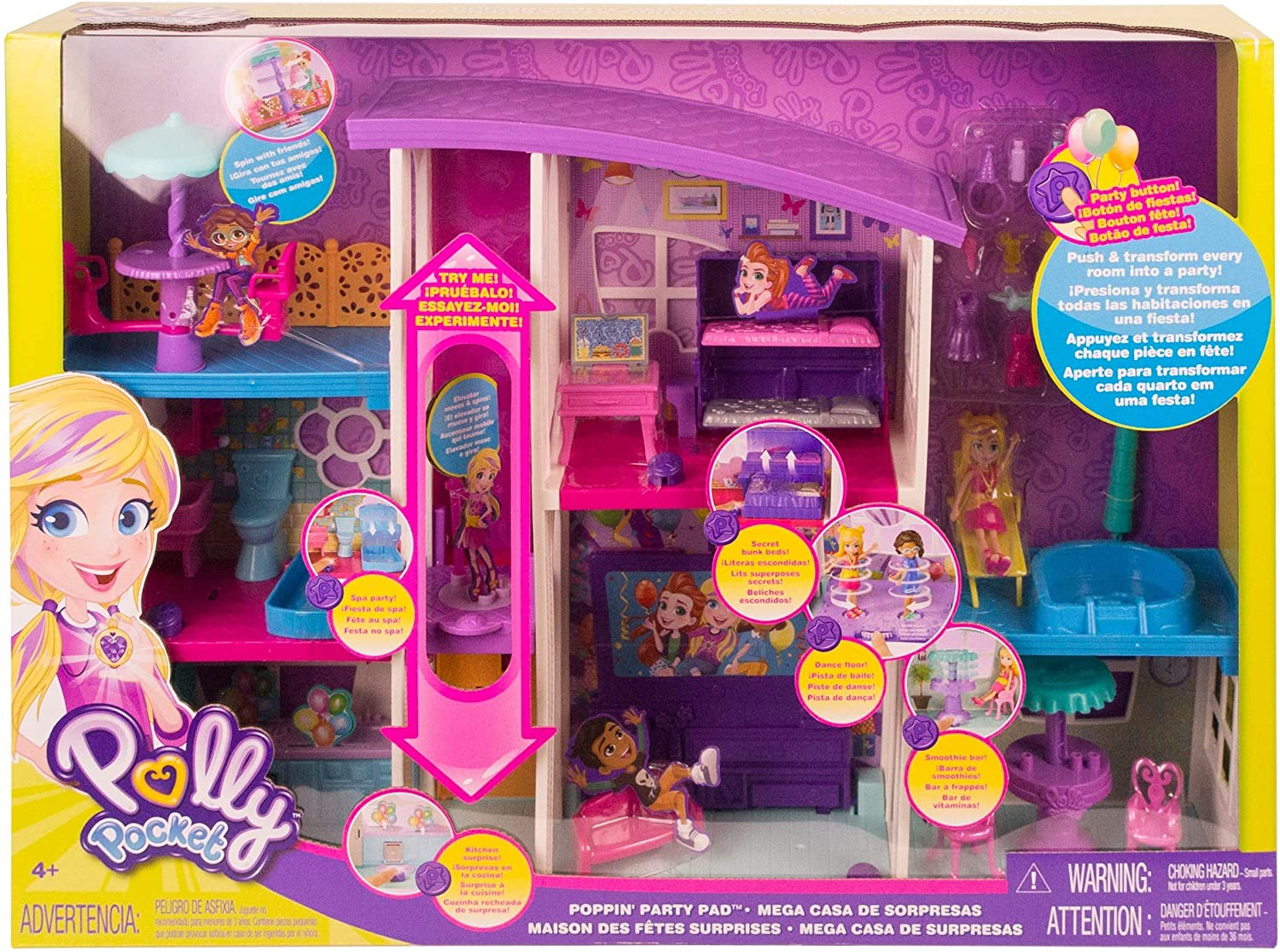 Polly Pocket Mega Casa de Surpresa