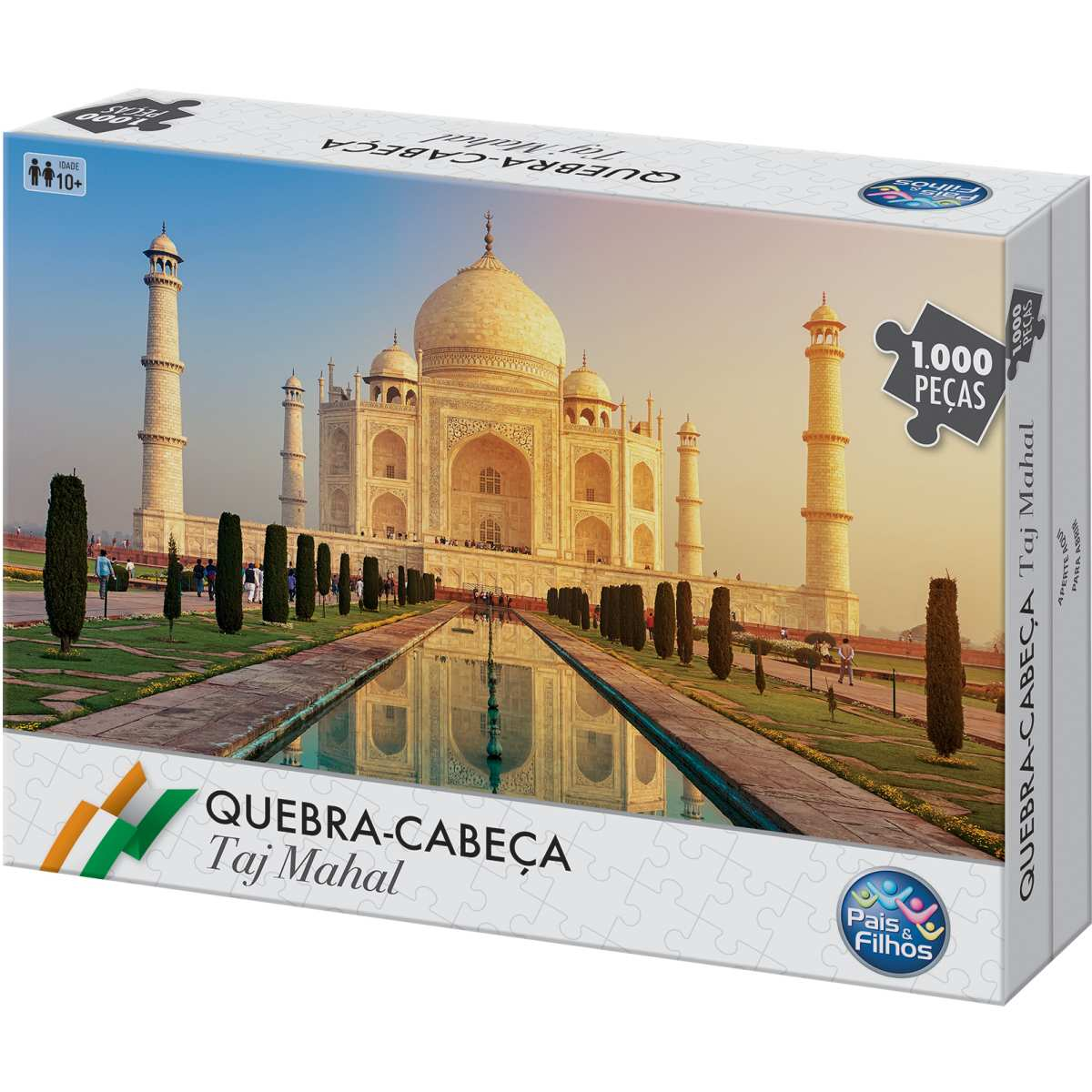 Quebra-cabeça Cartonado Taj Mahal 1000 peças - Pais E Filhos