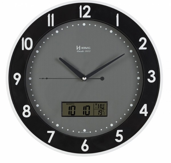 Relógio de Parede Branco Fosco Herweg – 6807