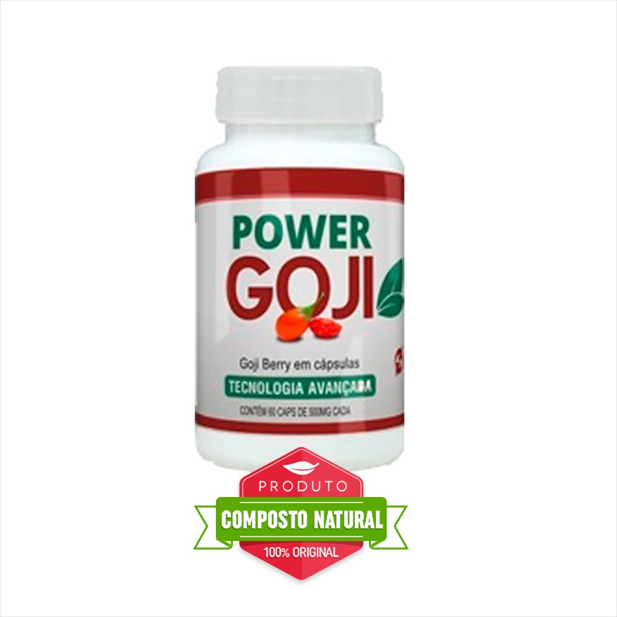 Power Goji - Original - 60 Cápsulas   - Composto Natural