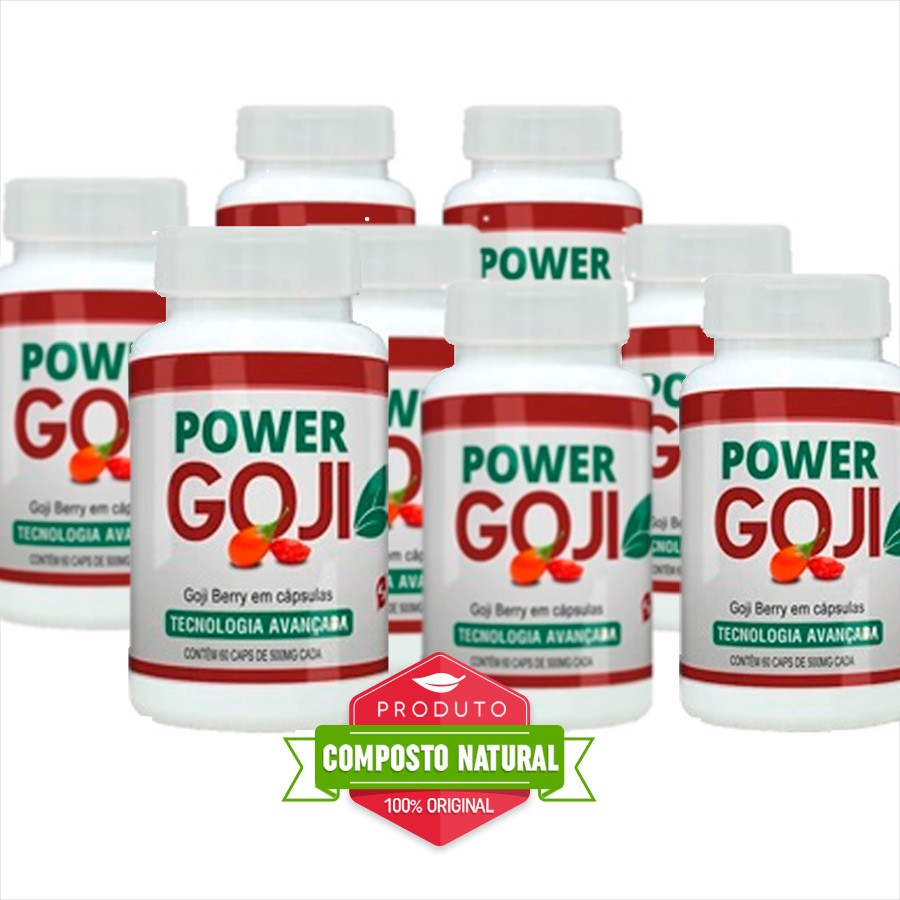 Power Goji - Original - 60 Cápsulas - Compre 5 e leve 8 potes  - Composto Natural