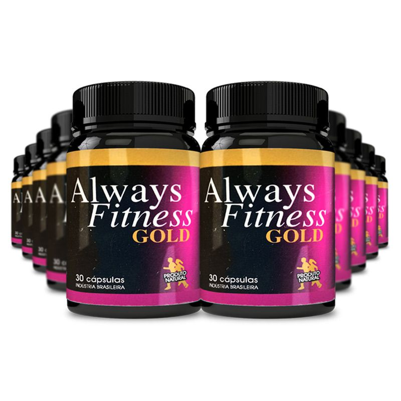 Always Fitness Gold 30 Cápsulas 10 Potes  - Composto Natural