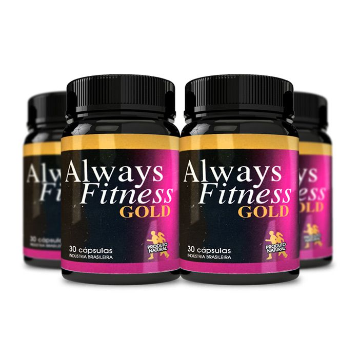 Always Fitness Gold 30 Cápsulas 4 Potes  - Composto Natural