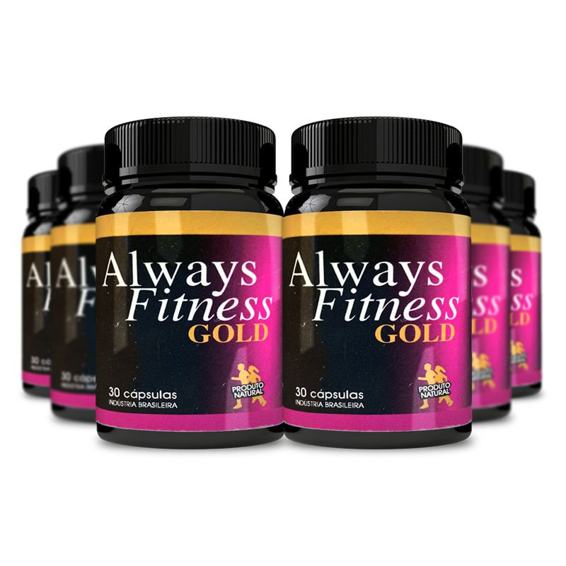 Always Fitness Gold 30 Cápsulas 6 Potes  - Composto Natural
