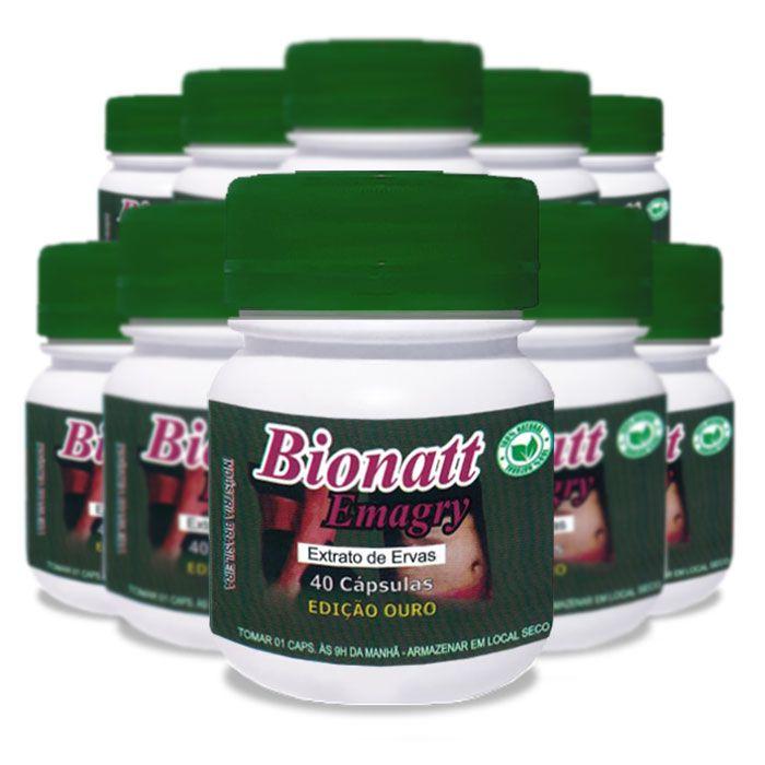 Bionatti Emagry 40 Cápsulas 10 Potes  - Composto Natural