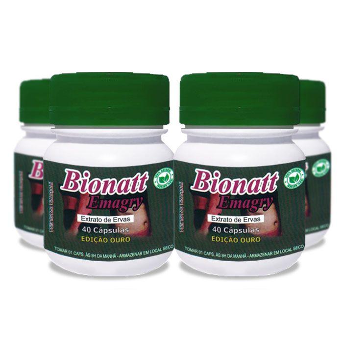Bionatti Emagry 40 Cápsulas 4 Potes  - Composto Natural