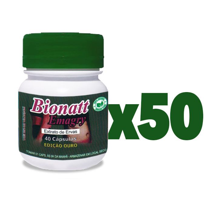 Bionatti Emagry 40 Cápsulas 50 Potes