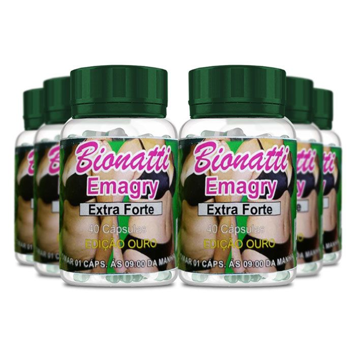 Bionatti Emagry Extra Forte 40 Cápsulas 6 Potes
