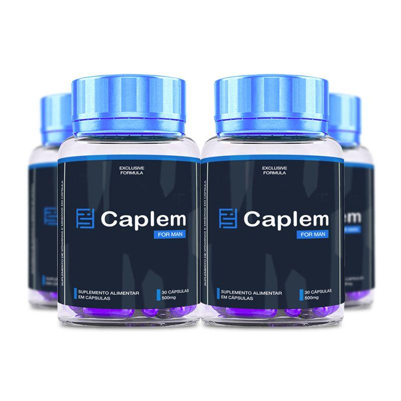 Caplem For Man 30 Cápsulas 4 Potes  - Composto Natural