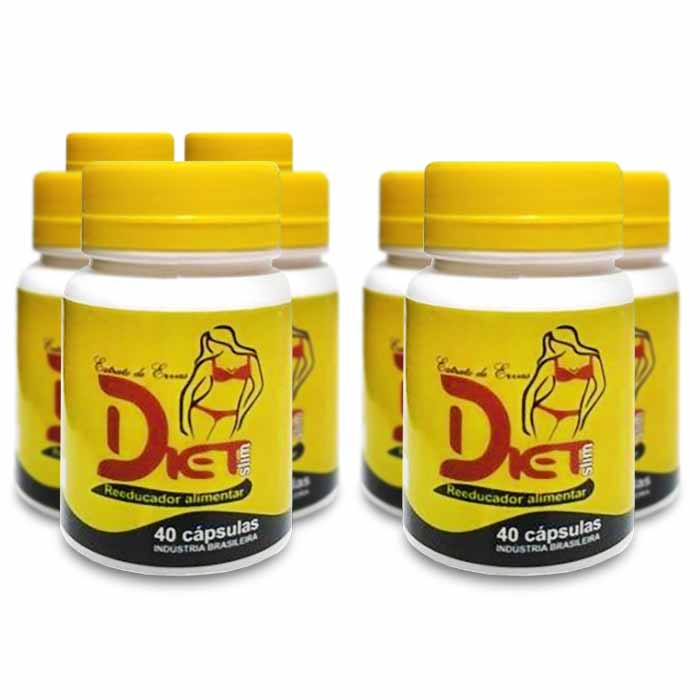 Diet Slim - 40 Caps - 500 Mg - Compre 5 leve 8 potes  - Composto Natural