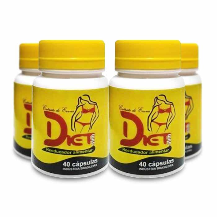 Diet Slim 40 Cápsulas Combo 4 Potes