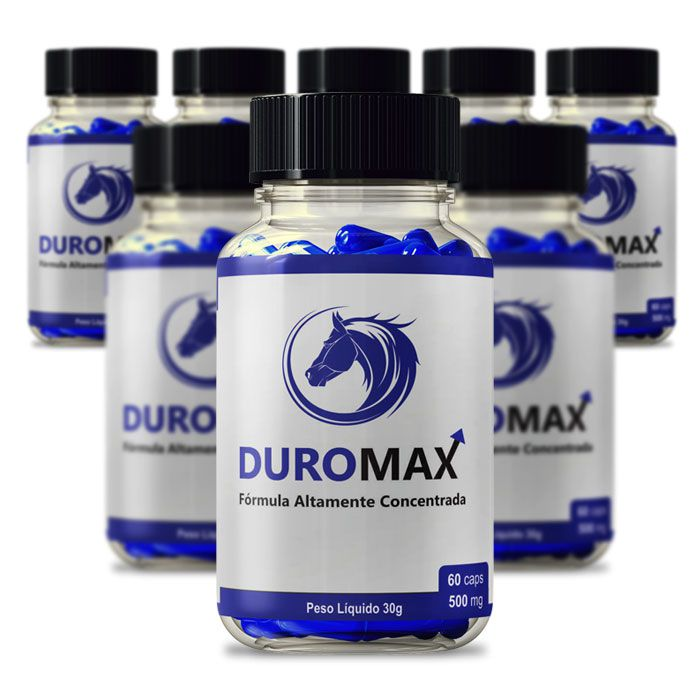 DuroMax 500 mg 60 Cápsulas 8 Potes  - Composto Natural