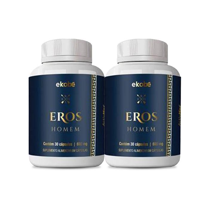 Eros Homem Ekobê 30 Caps 2 Potes  - Composto Natural