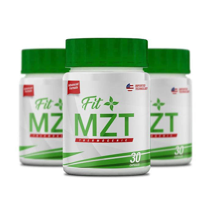 FIT MZT Slimming 30 Cápsulas 3 Potes  - Composto Natural