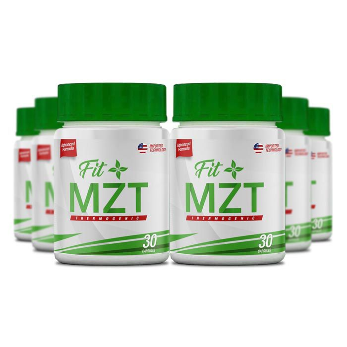 FIT MZT Slimming 30 Cápsulas 6 Potes  - Composto Natural