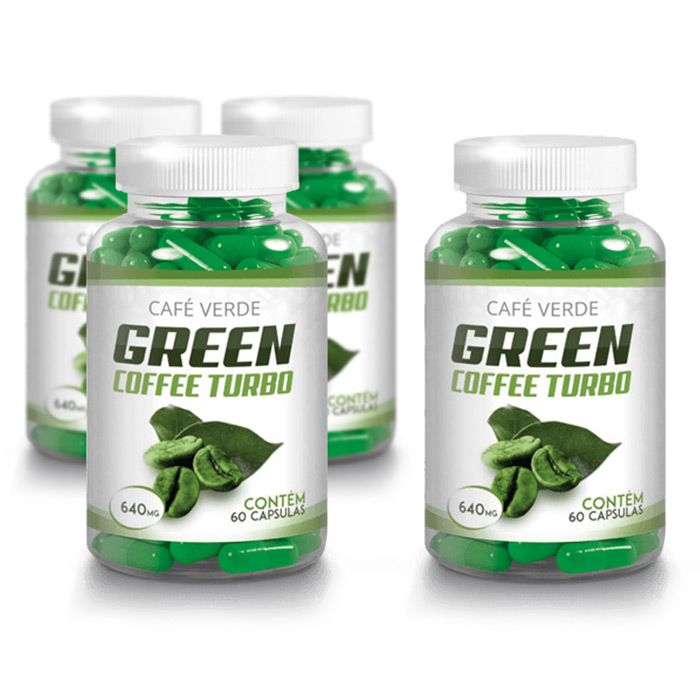 Green Coffee 640mg - 60 Cápsulas Compre 3 e Leve 4 Potes  - Composto Natural