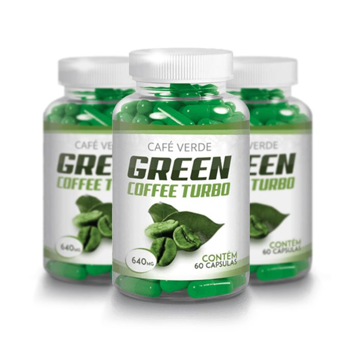 Green Coffee - Combo 3 Unidades - Original 640mg - 60 Cápsulas  - Composto Natural