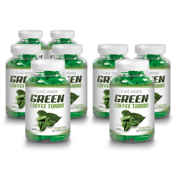 Green Coffee - Compre 5 e leve 8 potes - Original 640mg - 60 Cápsulas  - Composto Natural