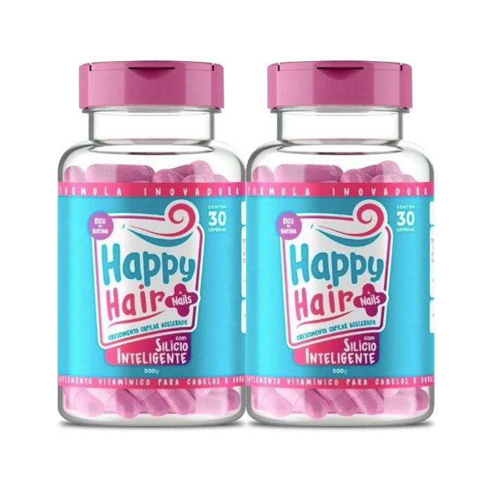 Happy Hair 30 Cápsulas 2 Potes