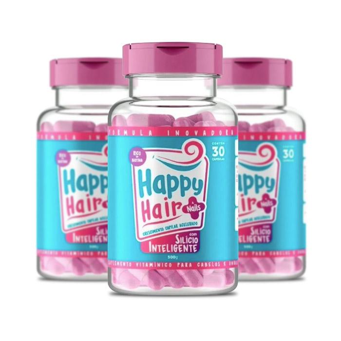 Happy Hair 30 Cápsulas 3 Potes