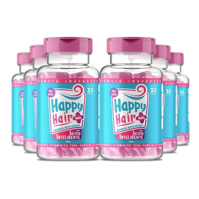 Happy Hair 30 Cápsulas 6 Potes