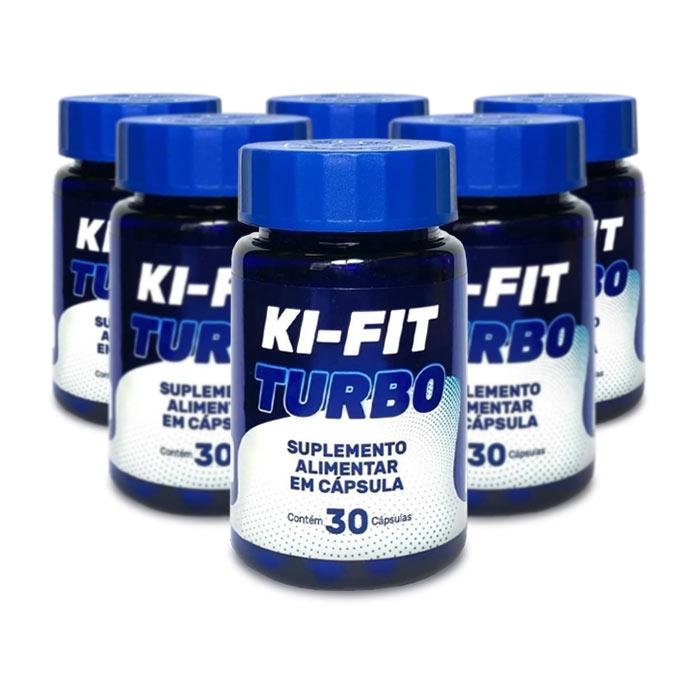 Ki-Fit Turbo 30 Cápsulas 6 Potes  - Composto Natural