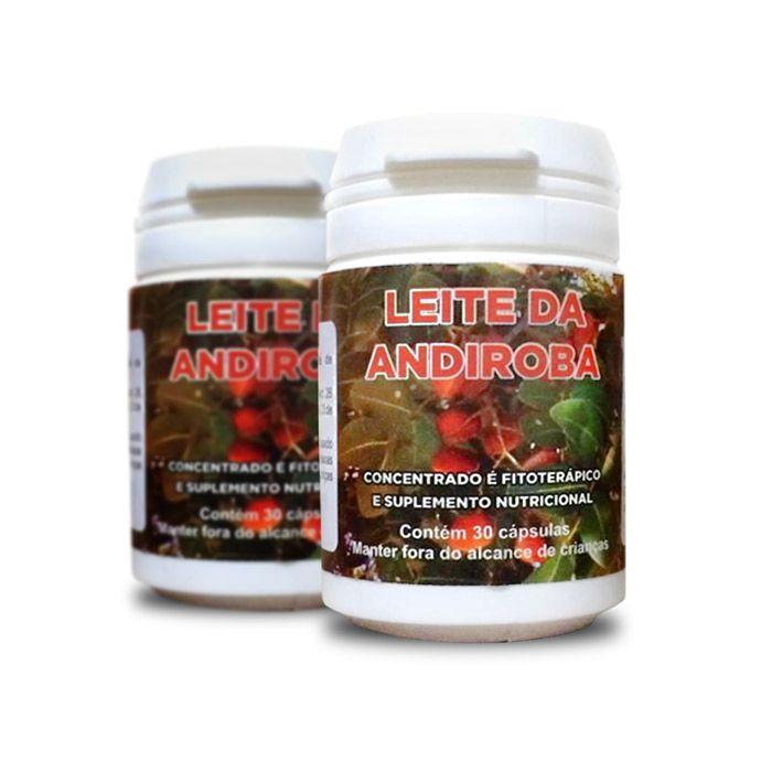 Leite de Andiroba 30 Cápsulas 2 Potes  - Composto Natural