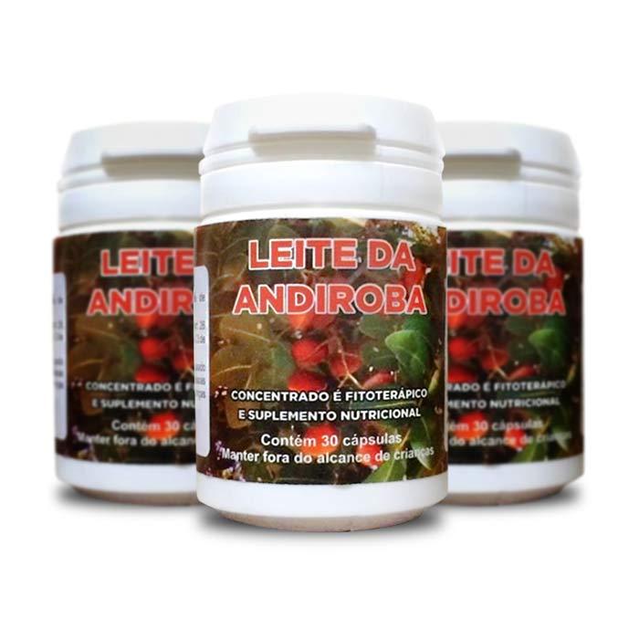 Leite de Andiroba 30 Cápsulas 3 Potes  - Composto Natural