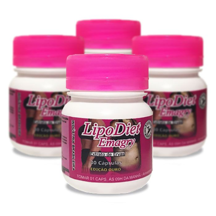 Lipo Diet Emagry 4 Potes  - Composto Natural