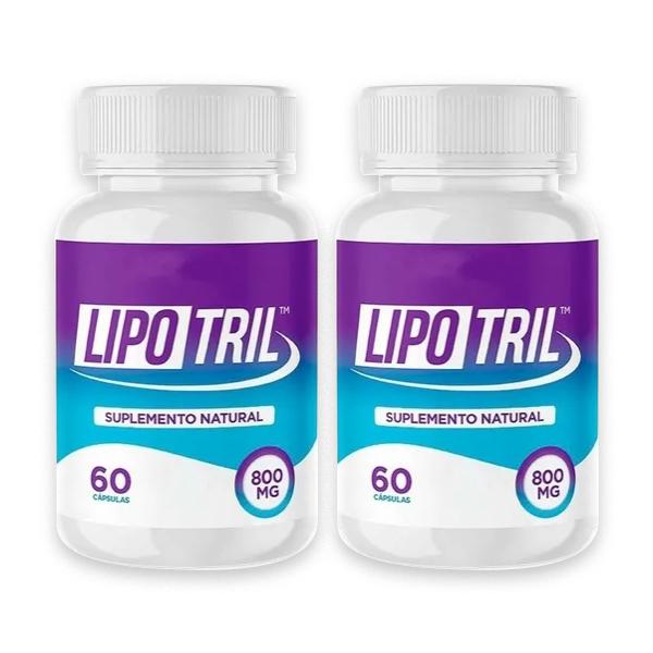 LipoTril - Combo com 2 potes - 60 Cápsulas - 800 Mg