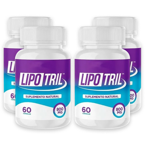 LipoTril - Combo com 4 potes - 60 Cápsulas - 800 Mg