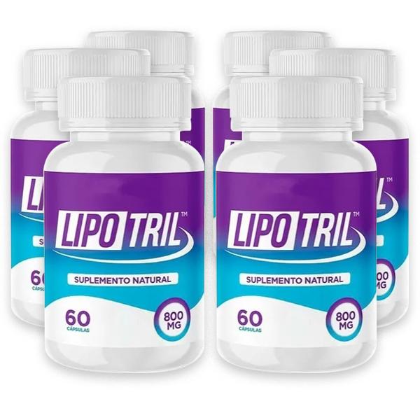 LipoTril - Combo com 6 potes - 60 Cápsulas - 800 Mg