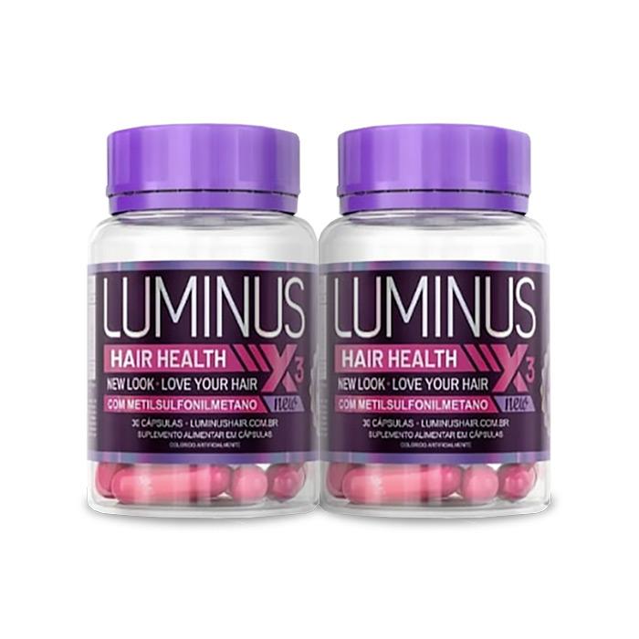 Luminus Hair Health 30 Cápsulas 2 Potes