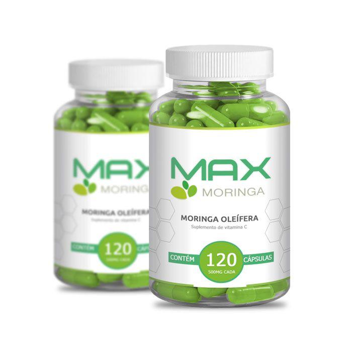 Max Moringa 120 Cápsulas 2 Potes  - Composto Natural