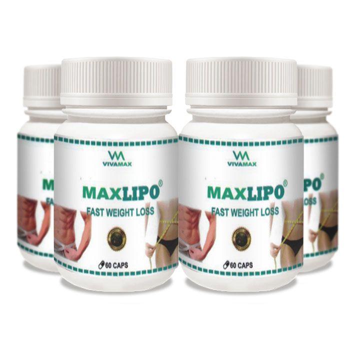 MaxLipo 60 Cápsulas 4 Potes  - Composto Natural