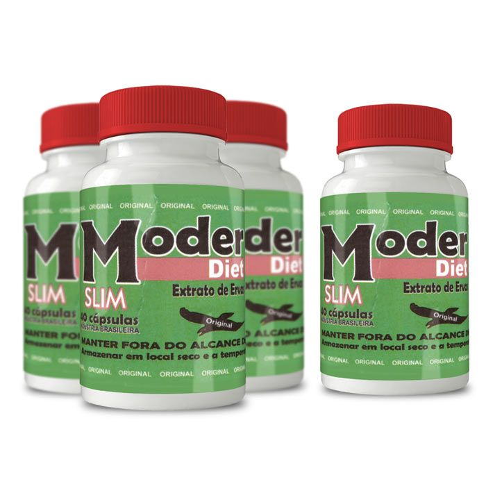 Moder Diet Slim ORIGINAL - Compre 3  e leve 4 potes  - Composto Natural