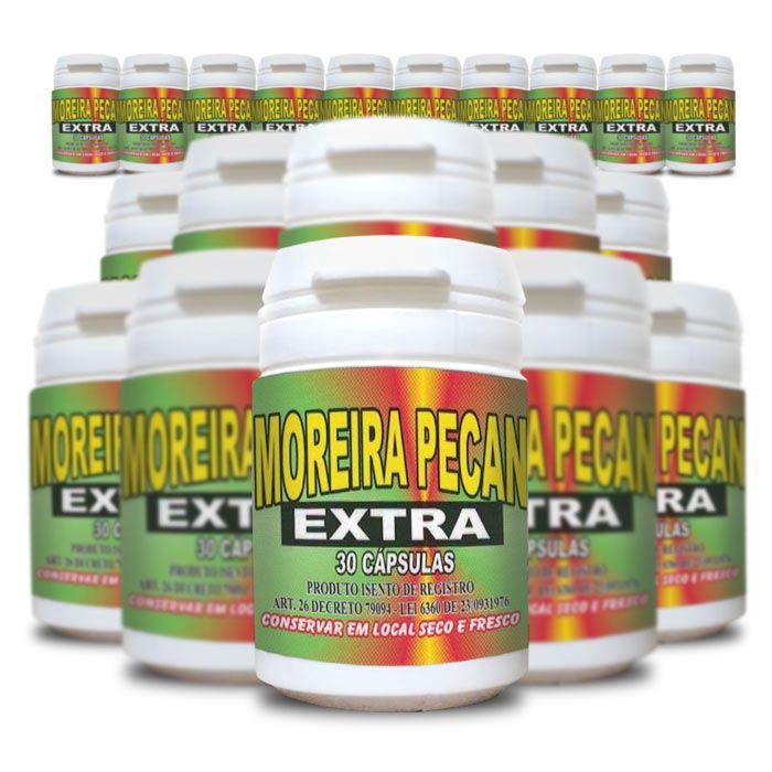 Moreira Pecan Extra 30 Cápsulas 20 Potes  - Composto Natural