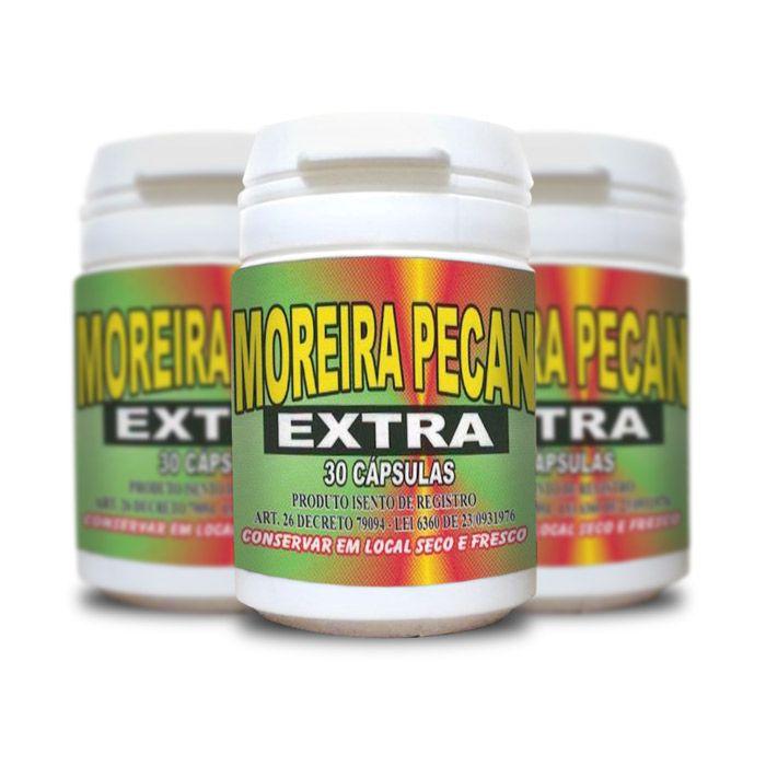 Moreira Pecan Extra 30 Cápsulas 3 Potes  - Composto Natural