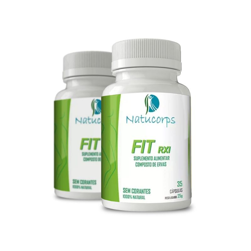 Natucorps FIt RXI 35 Caps 2 Potes  - Composto Natural