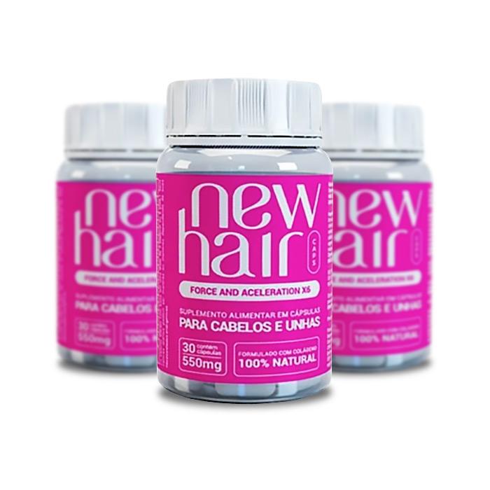New Hair 30 Cápsulas 3 Potes