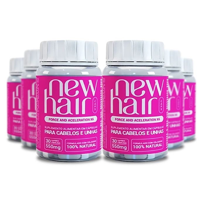 New Hair 30 Cápsulas 6 Potes