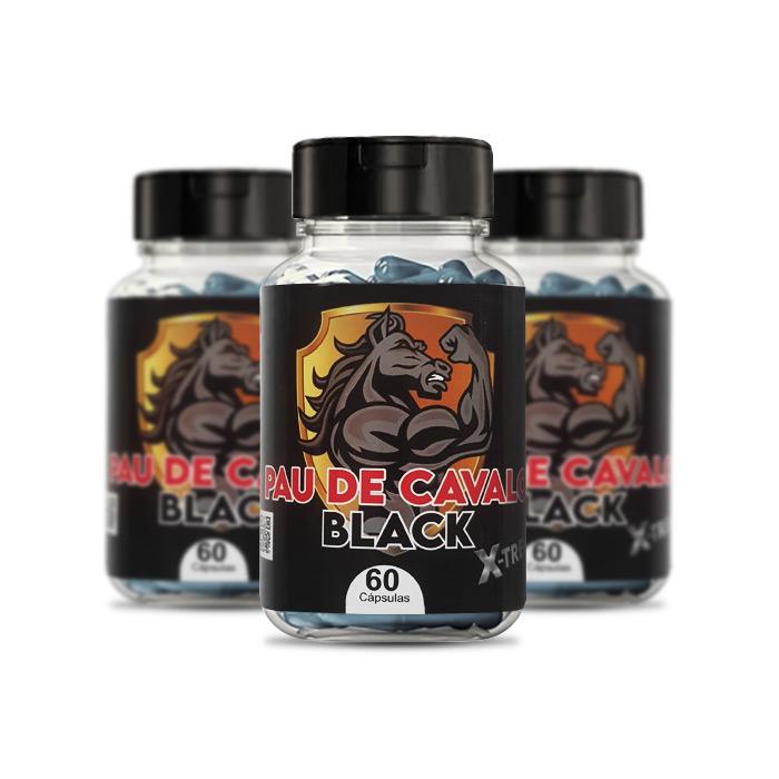 Pau de Cavalo Black X-Treme 3 Potes  - Composto Natural
