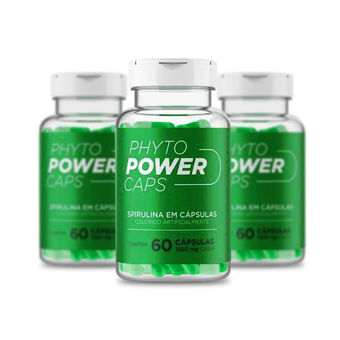 Phyto Power Caps 1100mg 60 Cápsulas 3 Potes  - Composto Natural