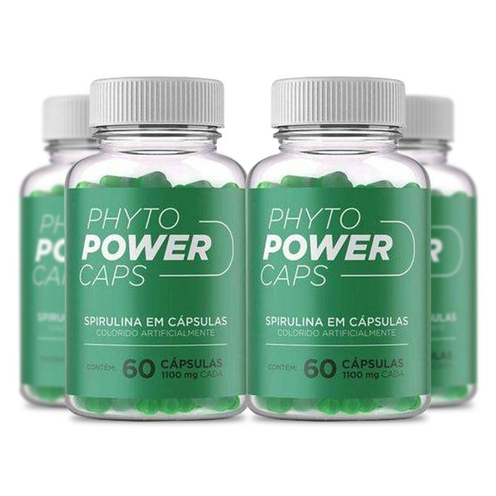 Phyto Power Caps 1100mg 60 Cápsulas 4 Potes