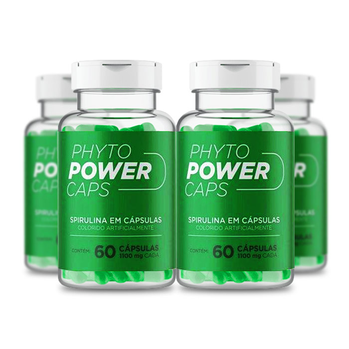 Phyto Power Caps 1100mg 60 Cápsulas 4 Potes  - Composto Natural