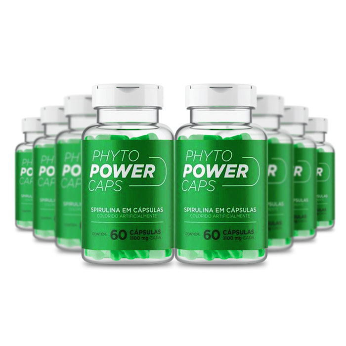 Phyto Power Caps 1100mg 60 Cápsulas 8 Potes